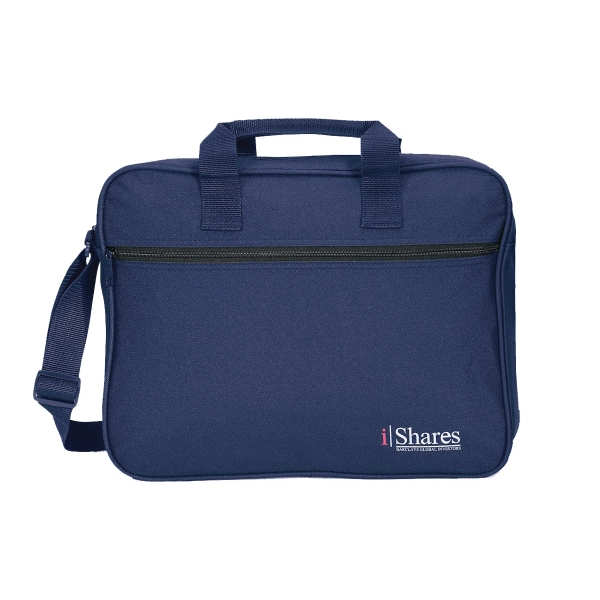 Professional - Navy Blue - Portfolio With Padded Top Grip And Box-stitched Handle Photo