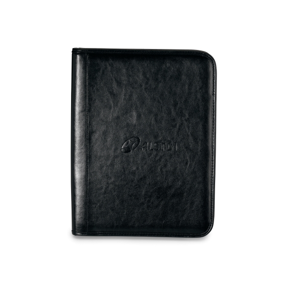 Tuscan - Leather Padfolio With Zippered Closure And Multi-function Organizer Photo