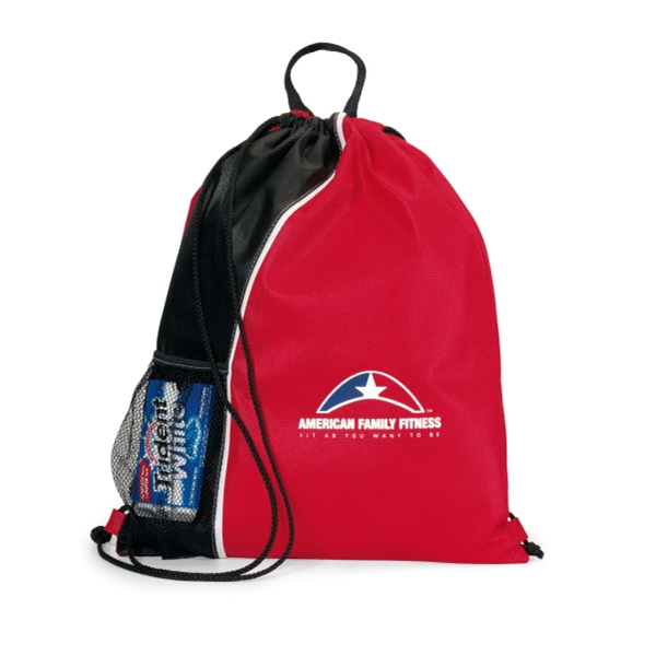 Crescent - Red-black - Non-woven Sport Pack With Top Grab Handle Photo