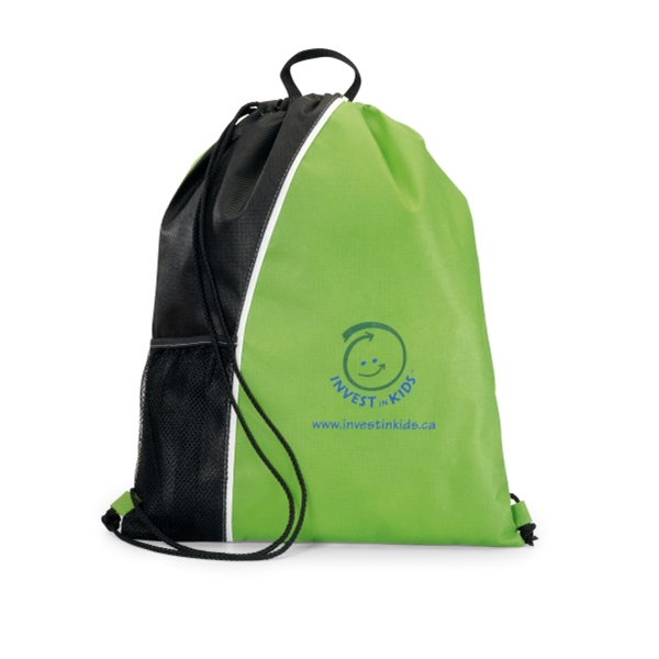 Crescent - Apple Green-black - Non-woven Sport Pack With Top Grab Handle Photo