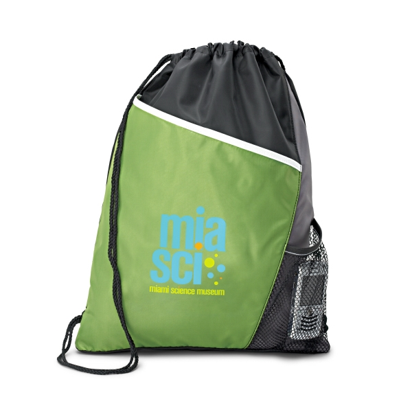 Surge - Apple Green - Sport Cinchpack With Side Mesh Pocket Photo