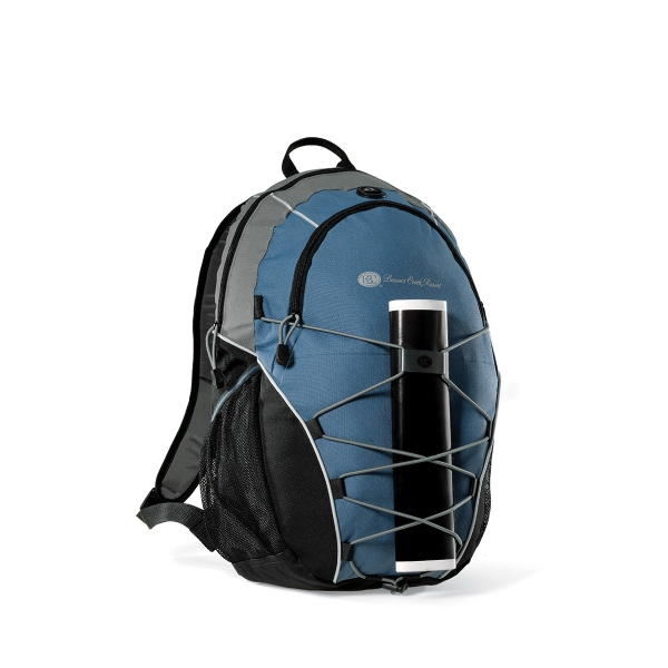 Expedition - Steel Blue - Computer Backpack With Bungee Cords For Extra Storage Photo