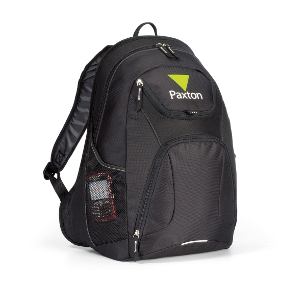Quest - Black - Computer Backpack With Large Main Compartment And Padded Computer Sleeve Photo