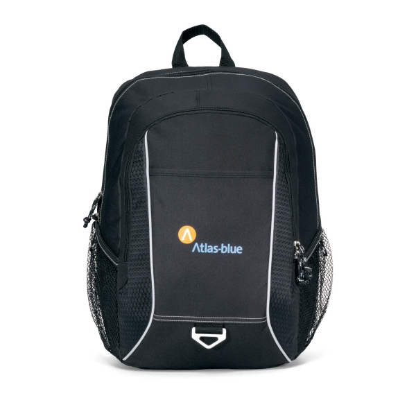 Atlas - Black - Computer Backpack With Padded Computer Sleeve And Multi-function Organizer Photo