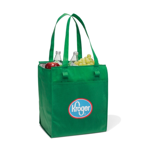 "Kelly Green - Deluxe Insulated Grocery Shopper Bag With 26"" Shoulder Straps Photo"