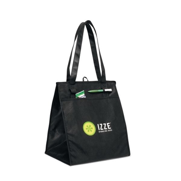 "Black - Deluxe Insulated Grocery Shopper Bag With 26"" Shoulder Straps Photo"