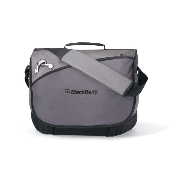 Freestyle - Gray - Computer Messenger Bag With Padded Shoulder Strap Photo