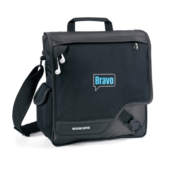 Satellite Vertical Computer Messenger Bag