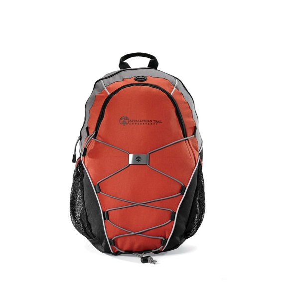 Expedition - Burnt Orange - Computer Backpack With Bungee Cords For Extra Storage Photo