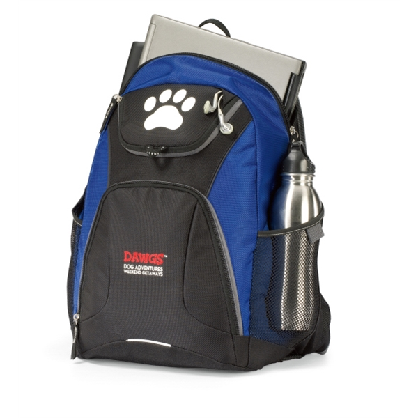 Quest - Royal Blue - Computer Backpack With Large Main Compartment And Padded Computer Sleeve Photo