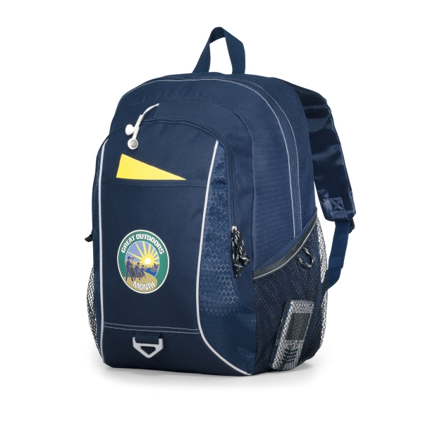 Atlas - Navy Blue - Computer Backpack With Padded Computer Sleeve And Multi-function Organizer Photo