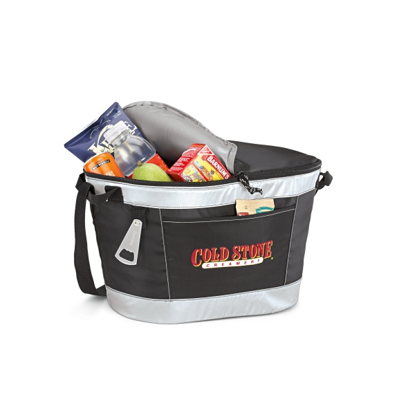 Party To Go - Black - Heat Sealed Cooler Bag With Metal Bottle Opener Photo