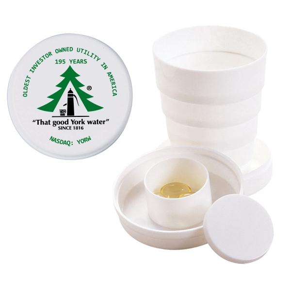 3 1/2 Oz. Collapsible Cup With Pill Box Photo