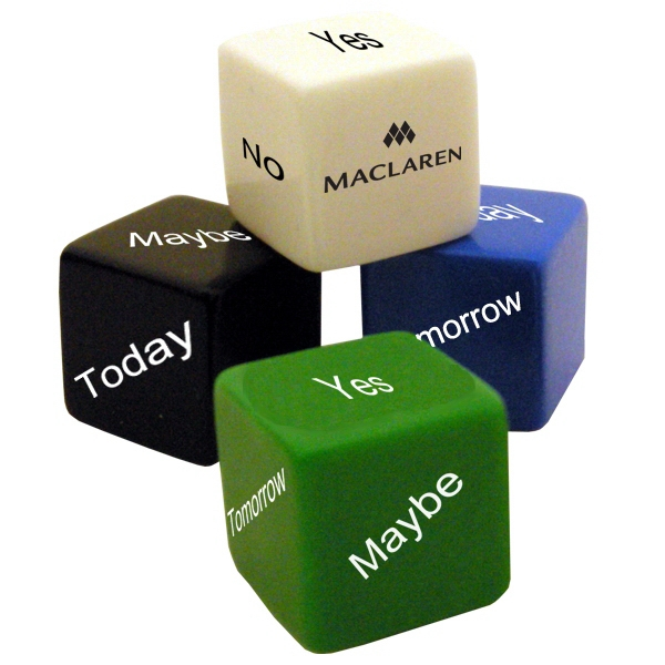 "1"" Opaque Decision Maker Dice Photo"