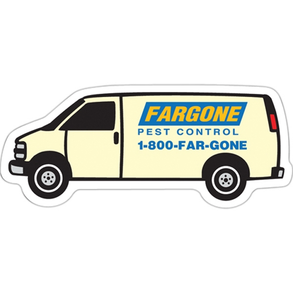 Flat Flexible Transportation Themed Stock Van Shaped Magnet Photo