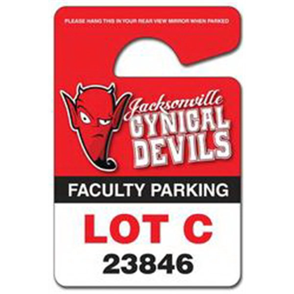 "3"" X 4.5"" - Plastic Hang Tag/parking Permit Uv Coated (1s). 14 Pt Photo"