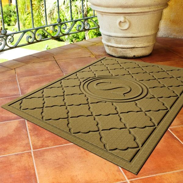 Bombay (TM) Mat - Monogrammed indoor/outdoor mat