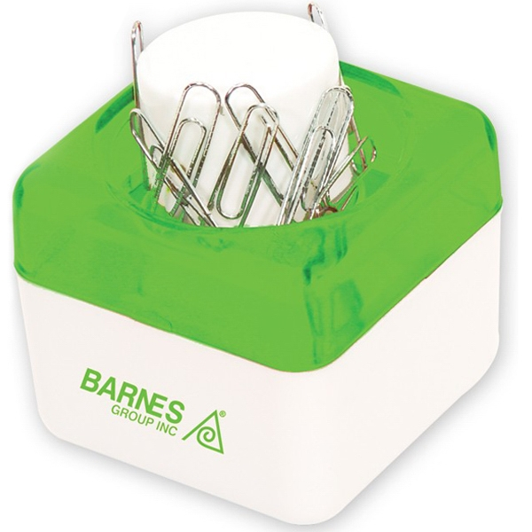 Green - Push Top Paper Clip Dispenser. Closeout Price! Available While Supplies Last! Photo