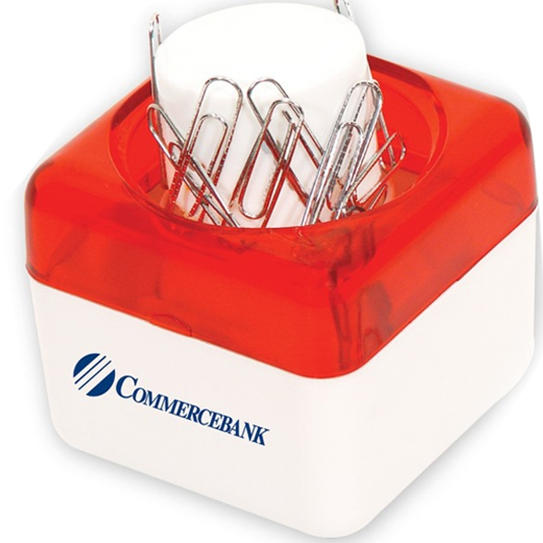 Red - Push Top Paper Clip Dispenser. Closeout Price! Available While Supplies Last! Photo