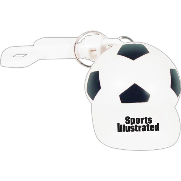 Soccer Cap Bottle Opener Keychain. Closeout Price! Available While Supplies Last! Photo