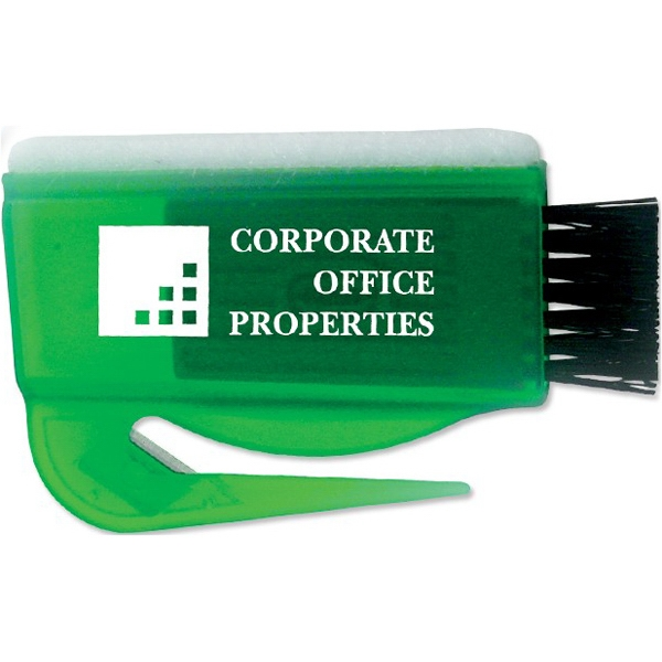 Green - Screen Sweeper, Keyboard Brush & Letter Opener Combo. Closeout Price! Photo