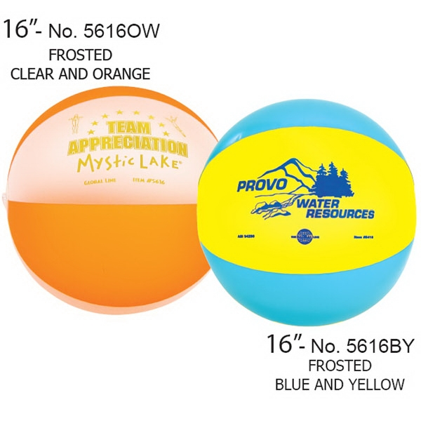 "Frosted Inflatable Beach Ball, 16"" Photo"