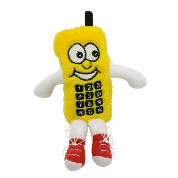 4in Yellow Cell Phone Key Chain