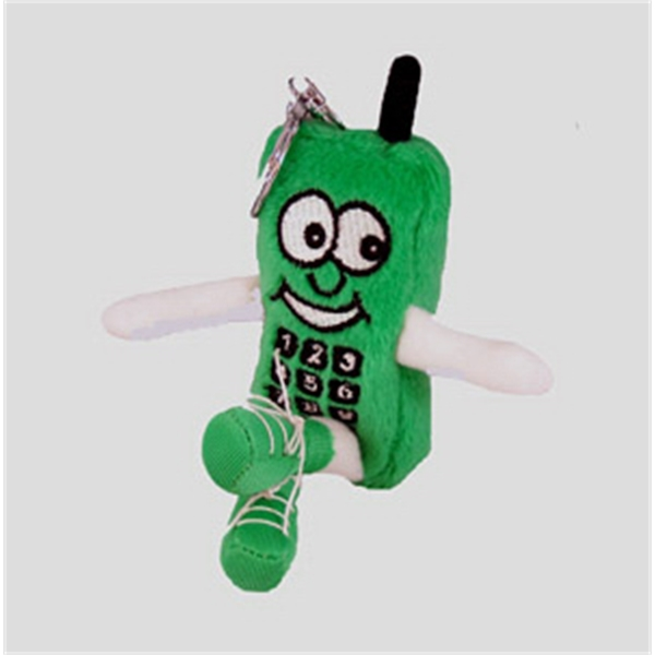 "6"" Cell Phone Light Green Key Chain"