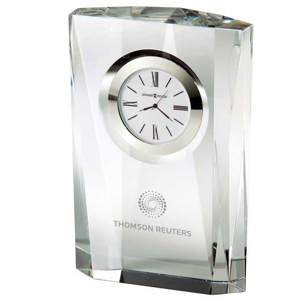Quest - Crystal Table Clock With Multi-faceted Sides Photo