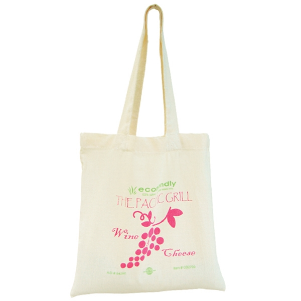 Natural Color Economy Bag, Made Of 100% Thick Cotton Material Photo