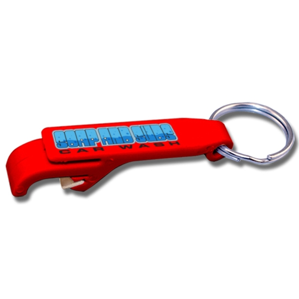 "Full Color Bottle Opener Key Tag, 2 5/8"" X 1/2"" Photo"