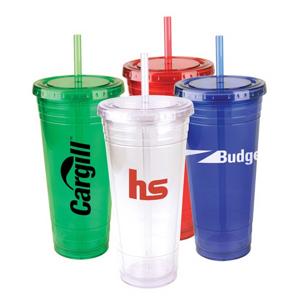 Festa - 22 Oz Tumbler With 2 Straws Photo