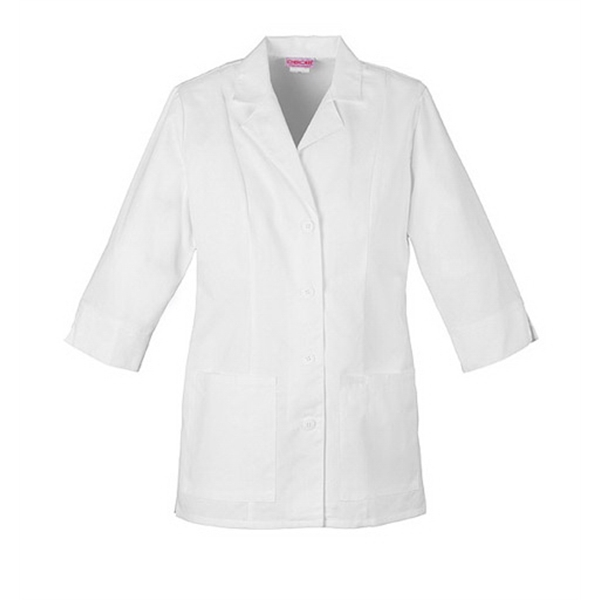 Cherokee - Sa1470 Women's Three Quarter Sleeve Lab Coat In White Photo