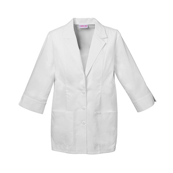 Cherokee - Sa2330 Women's Three Quarter Sleeve Lab Coat In White Photo