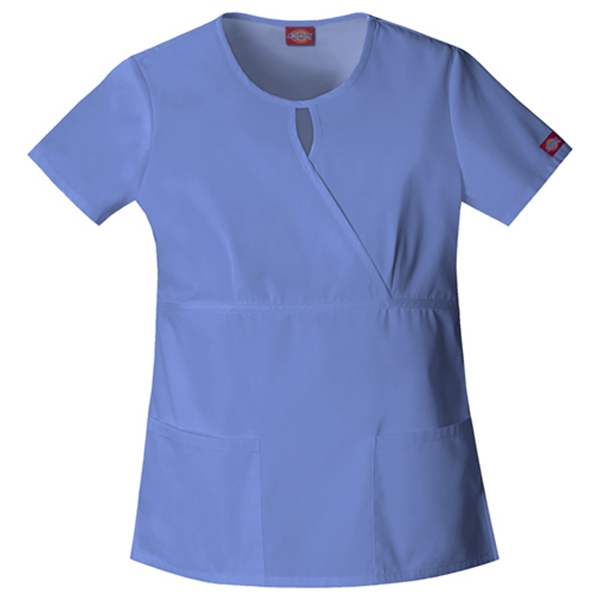 Dickies Medical - Ceil Blue - Sa82708 Women's Keyhole Scrub Top Photo