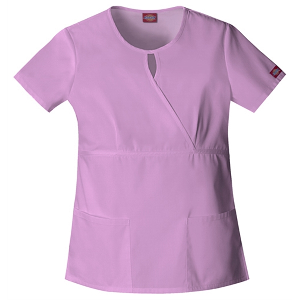 Dickies Medical - Candy Orchid - Sa82708 Women's Keyhole Scrub Top Photo