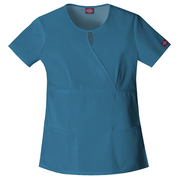 Dickies Medical - Caribbean - Sa82708 Women's Keyhole Scrub Top Photo