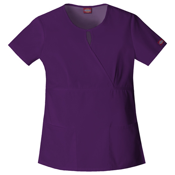 Dickies Medical - Eggplant - Sa82708 Women's Keyhole Scrub Top Photo