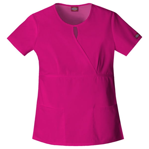 Dickies Medical - Hot Pink - Sa82708 Women's Keyhole Scrub Top Photo