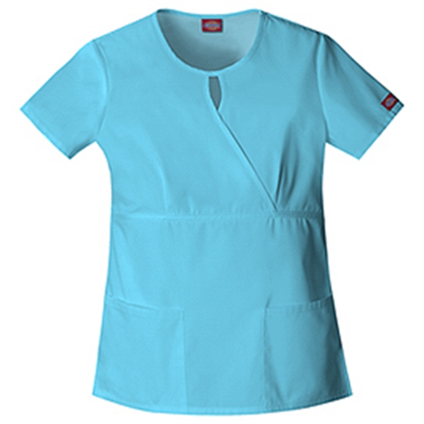 Dickies Medical - Icy Turquoise - Sa82708 Women's Keyhole Scrub Top Photo