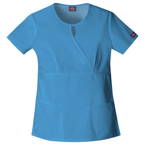Dickies Medical - Malibu Blue - Sa82708 Women's Keyhole Scrub Top Photo