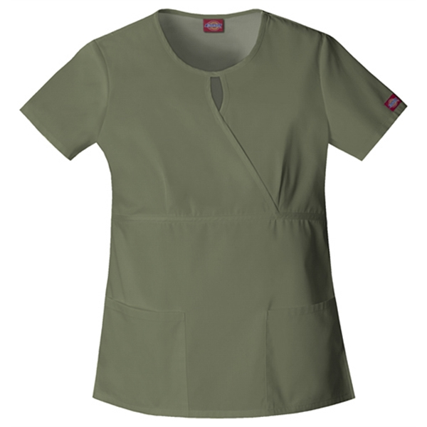 Dickies Medical - Olive - Sa82708 Women's Keyhole Scrub Top Photo