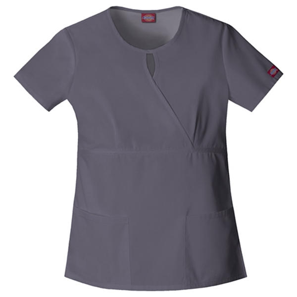 Dickies Medical - Pewter - Sa82708 Women's Keyhole Scrub Top Photo