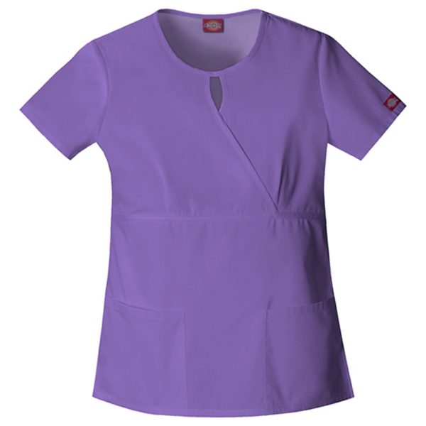 Dickies Medical - Violet - Sa82708 Women's Keyhole Scrub Top Photo