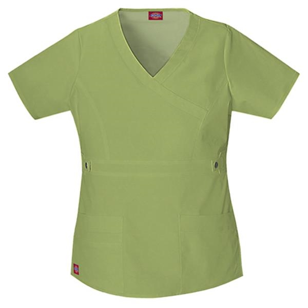 "Dickies Medical - Wine - Sa817355 ""youtility"" Mock Wrap Top - Photo"