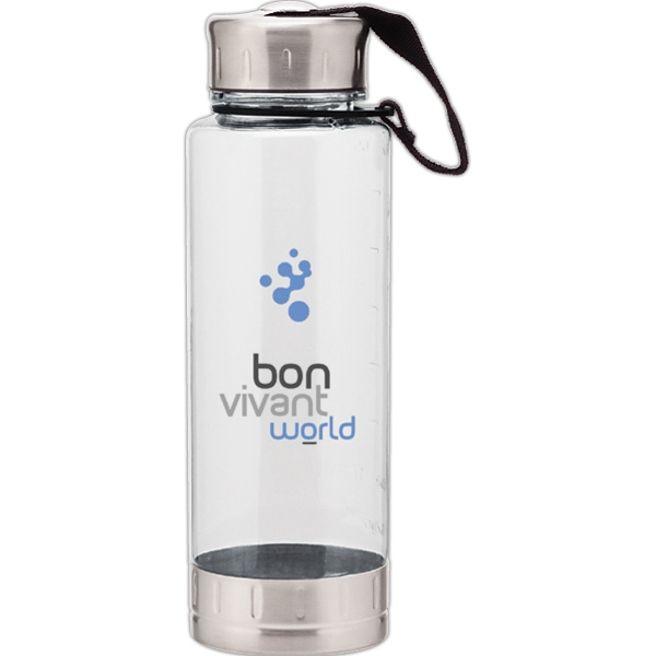 Fusion H2go Bfree (r) - Clear - Acrylic Bottle With Stainless Steel Lid And Base, Bpa Free. 23 Oz Photo