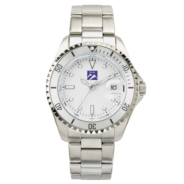 Ladies' - Watch With Silver Finish, Brass Metal Case And Magnified Date Display Photo