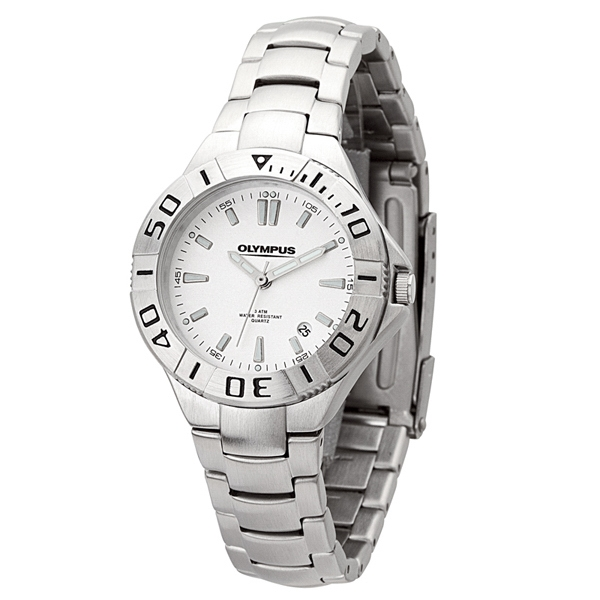 Ladies' - Watch With Folded Steel Bracelet, Rotating Bezel, Metal Case And Japanese Movement Photo