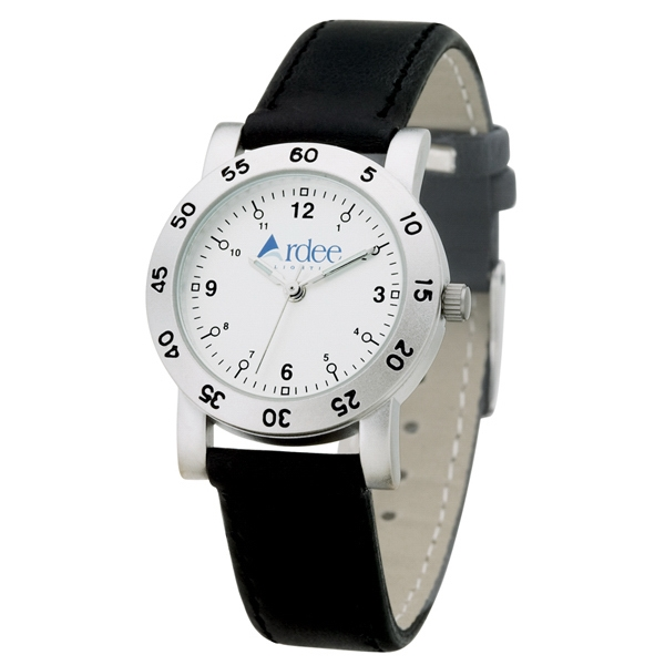 Ladies' - Matte Silver Finish Watch With Metal Case And Leatherette Straps Photo