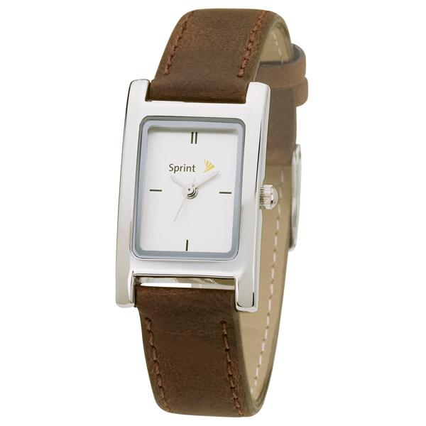 Ladies' - Water Resistant Watch With Leatherette Straps, Metal Case Photo